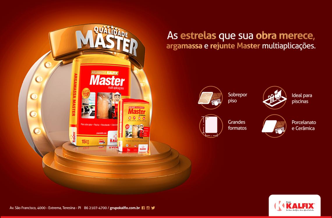 Campanha publicitária argamassa master kalfix